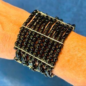 Jewelry - Black Beaded Stretch Bracelet